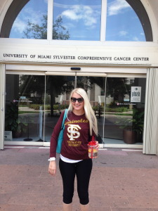 I became sassy: first time meeting my doctors at UM I wore an FSU shirt.
