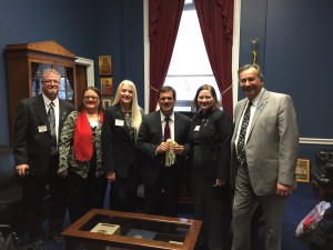 The most amazing part of the trip, meeting Congressman Bilirakis