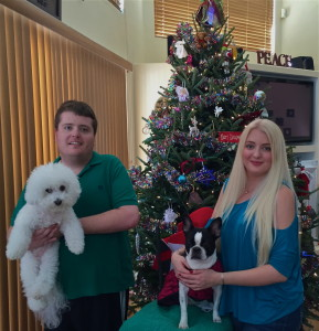 The family Christmas picture, taken in the middle off my Rituxan treatments. Say hello to my giant moon face!